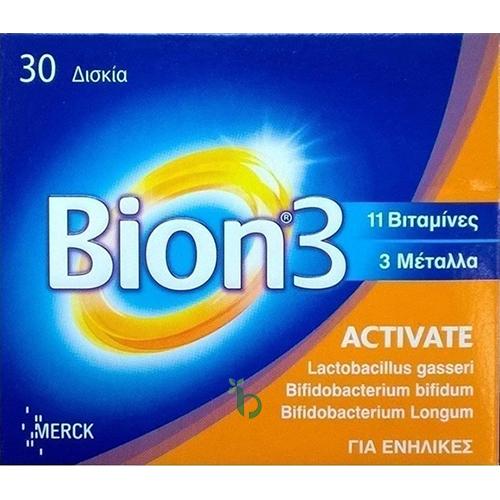 Merk Bion 3 Activate – Συμπλήρωμα διατροφής – 30tbs