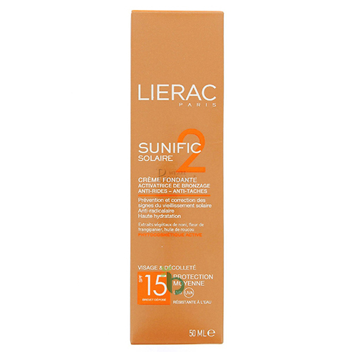 Lierac Sunific 2 Melt-In Cream SPF15, 50ml