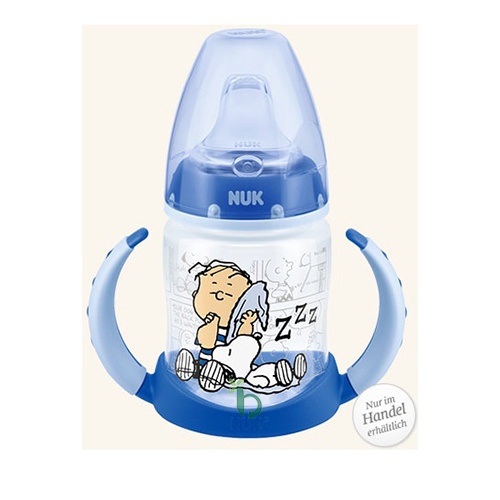 Nuk First Choice Plus Snoopy (Peanuts) Μπιμπερό PP με Λαβές 6-18 Μηνών με Ρύγχος Σιλικόνης, 150ml