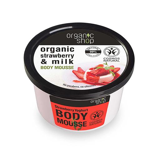 ORGANIC SHOP φράουλα & γιαούρτι BODY MOUSSE