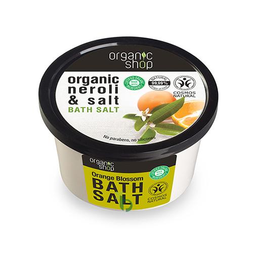 Organic Shop Άλατα Μπάνιου Άνθος Πορτοκαλίου 250ml