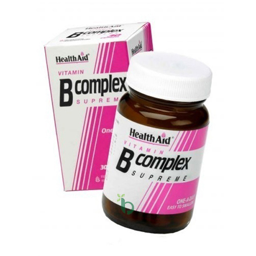 Health Aid B-Complex, Συμπλήρωμα Διατροφής Βιταμίνης Β 30Caps