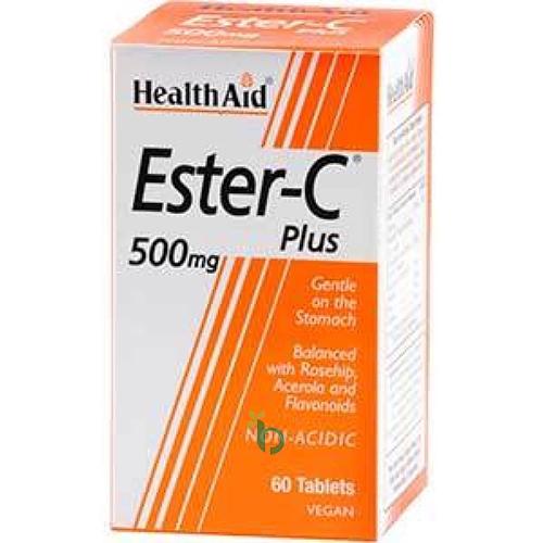 Health Aid Ester-C Plus 500mg 60Tablets