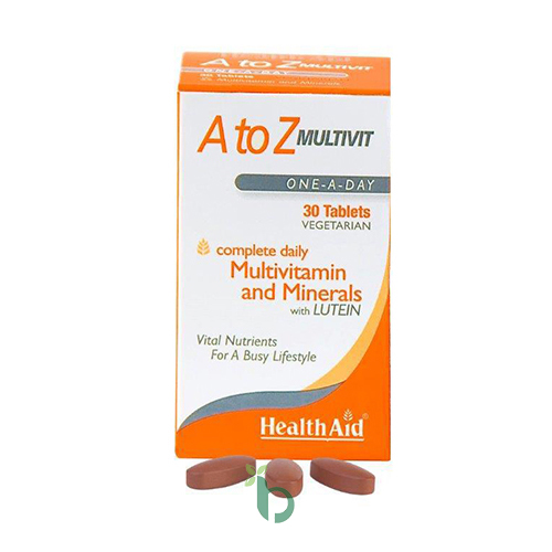 Health Aid A to Z Multivit and Minerals with Lutein 30tabs