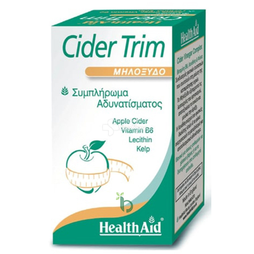 Health Aid Cider Trim Συμπλήρωμα Αδυνατίσματος με Μηλόξυδο 90caps