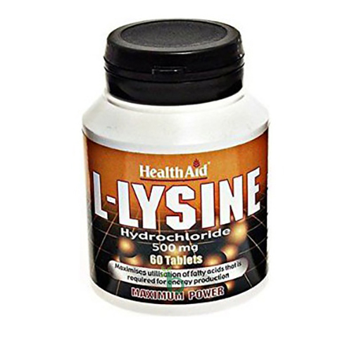 Health Aid L-Lysine 500mg Maxim Power 60tabs