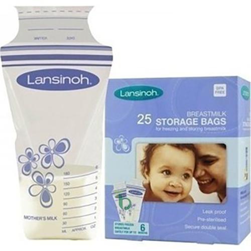 Lansinoh Σακουλάκια Αποθήκευσης Μητρικού Γάλακτος 180ml, 25τμχ