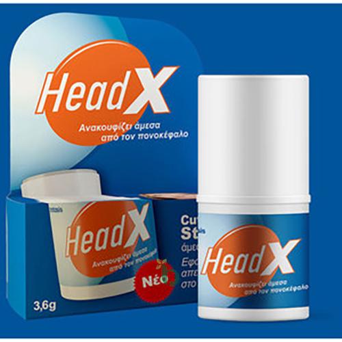 HeadX Stick Άμεσης Δράσης για την Ανακούφιση από τον Πονοκέφαλο 3,6gr