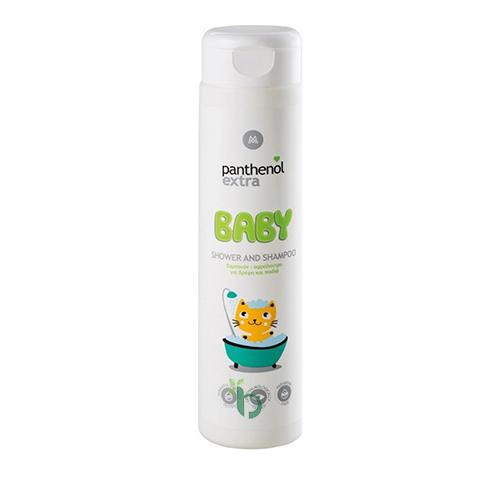 Panthenol Extra Baby Shower And Shampoo Σαμπουάν-Αφρόλουτρο για Βρέφη και Παιδιά 300ml