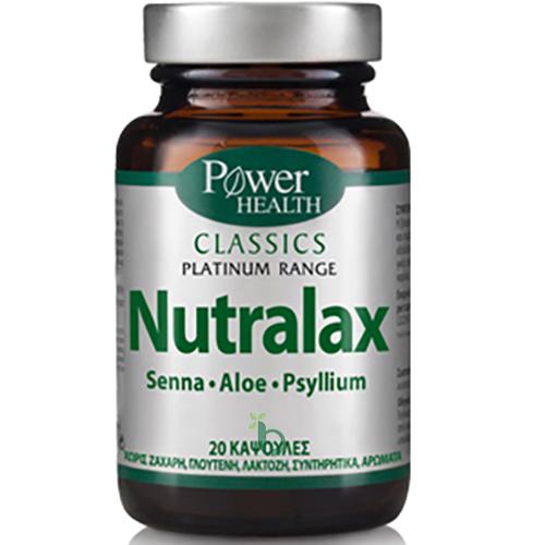 Power Health Classics Platinum Nutralax Συμπλήρωμα Διατροφής για την Αντιμετώπιση της Δυσκοιλιότητας 20Caps