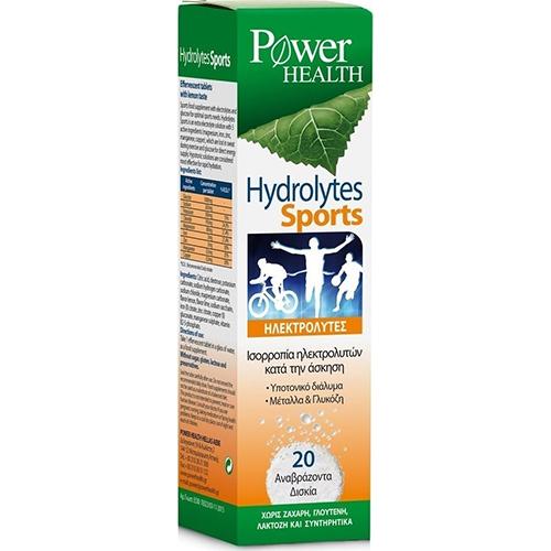 Power Health Hydrolytes Sports Συμπλήρωμα Διατροφής με Ηλεκτρολύτες 20 Αναβράζοντα Δισκία