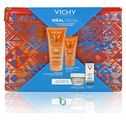 Vichy Promo Ideal Soleil Wet Skin SPF50 200ml & Dry Touch BB Teinte SPF50 50ml & Mineral Mask 15ml & Mineral 89 5ml