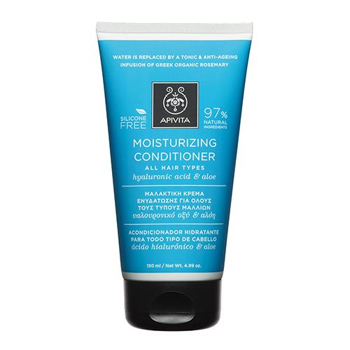 Apivita Μαλακτική Κρέμα Ενυδάτωσης για Όλους τους Τύπους Μαλλιών με Υαλουρονικό Οξύ & Αλόη 150ml