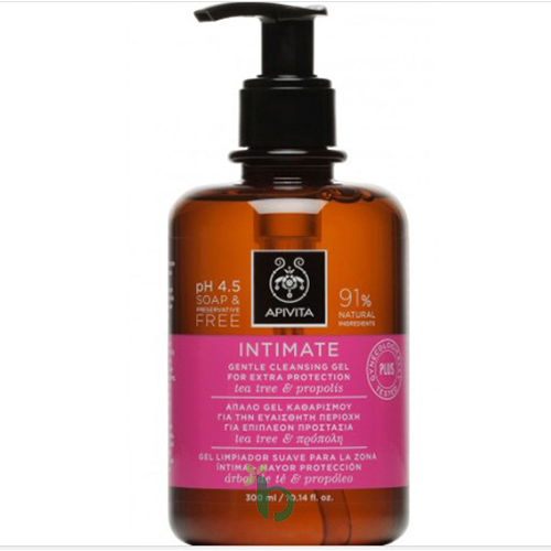 Apivita Intimate Plus, Απαλό Gel Καθαρισμού 300ml