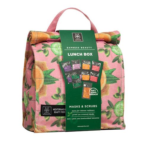 Apivita Promo Lunch Box Μasks & Scrubs 6τμχ