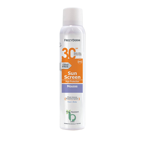 Frezyderm Sun Screen Mousse SPF30, Αφρός 200ml