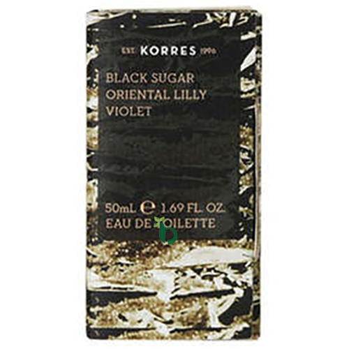 Korres Black Sugar, Oriental Lilly, Violet Eau de Toilette 50ml
