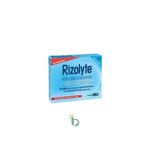 Intermed Rizolyte Rice Flour & Electrolytes, Άλευρο Ρυζιού, Ηλεκτρολύτες 6 φακελ
