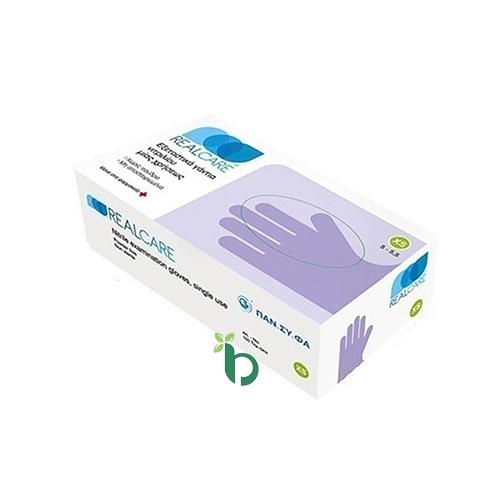 Real Care Γάντια Νιτριλίου Χωρίς Πούδρα 100τμχ