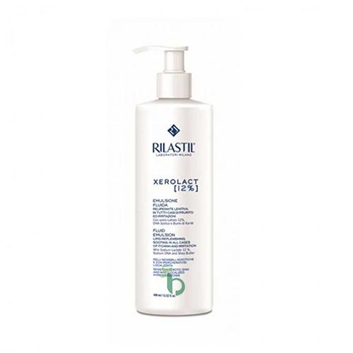 Rilastil Xerolact Fluid Emulsion Sodium Lactate 12% Ενυδατικό Γαλάκτωμα Σώματος για Ευαίσθητες Επιδερμίδες με Ξηροδερμία 400ml