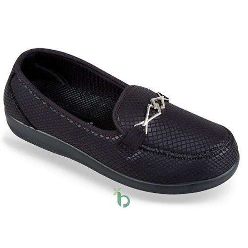 Steps Med Ανατομικό παπούτσι Μαύρο