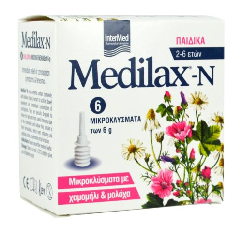 Intermed Medilax-N Μικροκλύσματα για Παιδιά 2-6 ετών 6X6gr