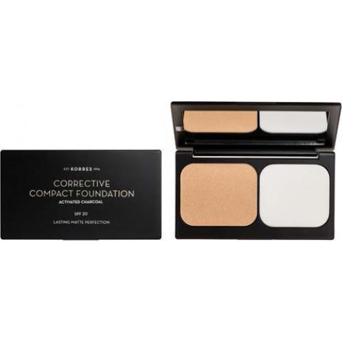 Korres Corrective Compact Foundation Spf 20 – Διορθωτικό Compact Make Up για Σοβαρές Ατέλειες