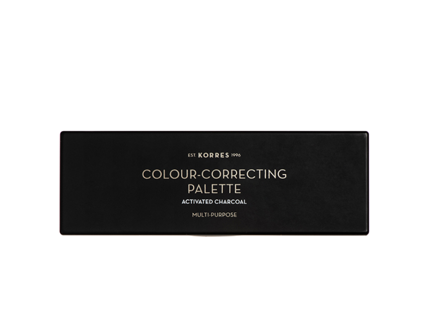 Korres Activated Charcoal Colour-Correcting Pallet Παλέτα Διόρθωσης Χρώματος