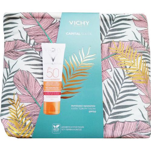 Vichy Capital Soleil Anti Ageing SPF50 3-in-1 50ml και Νεσεσέρ